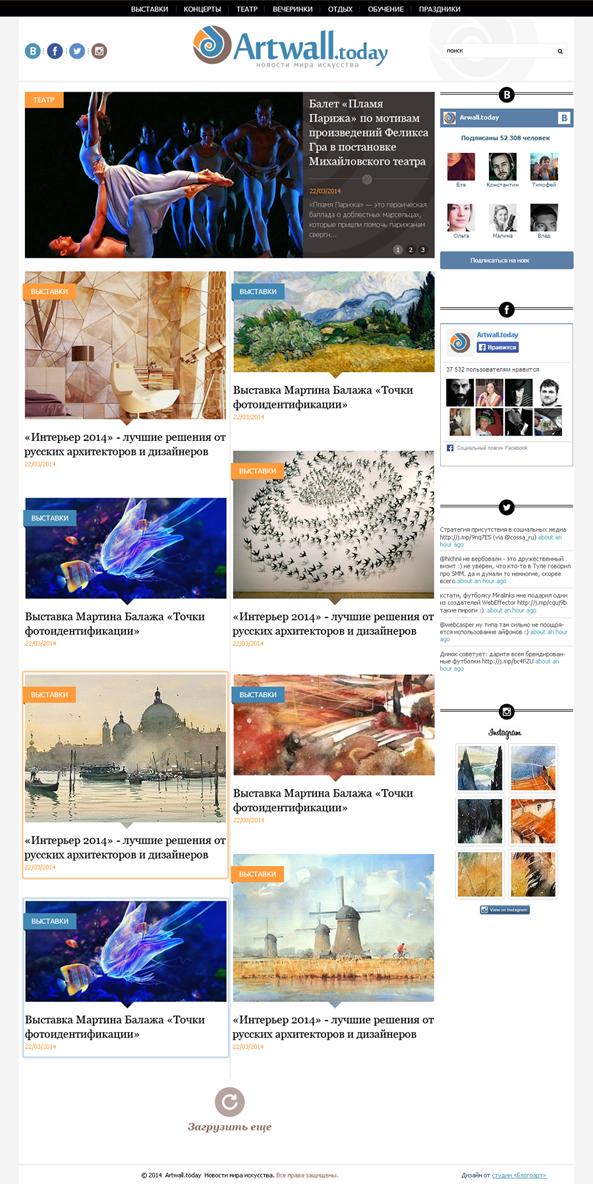 Artwall — Новостной блог о мире искусства