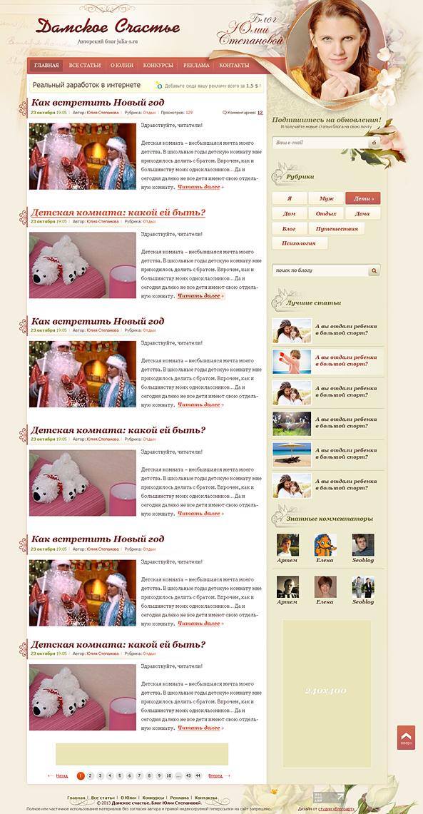 персональный блог вордпресс