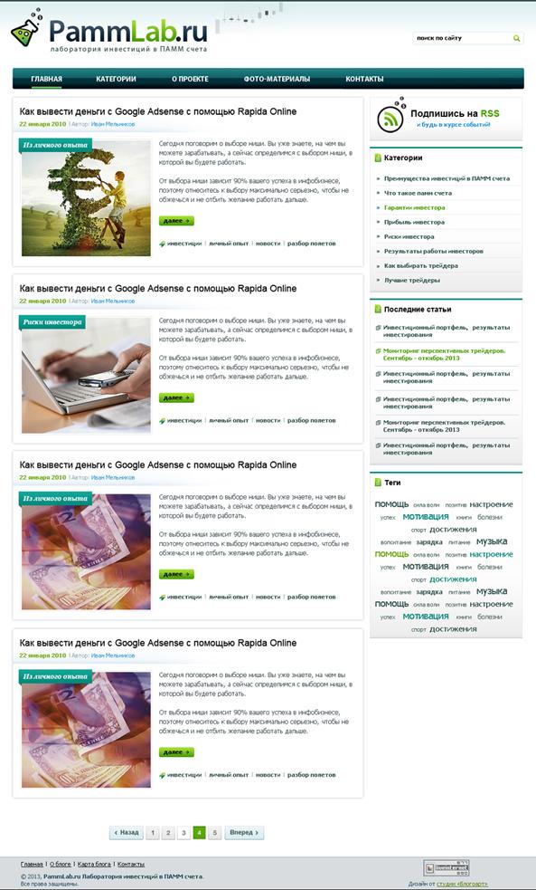 Блог об инвестициях PammLab